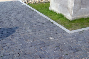 Black basalt granite setts