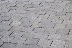Light grey granite setts